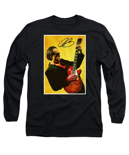 Joe Bonamassa Long Sleeve T-Shirt by Semih Yurdabak