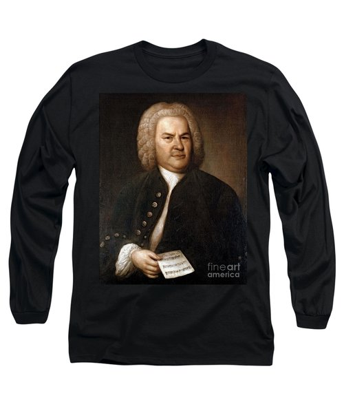 Johann Sebastian Bach, German Baroque Long Sleeve T-Shirt