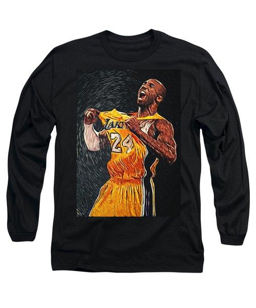 Kobe Bryant Long Sleeve T-Shirt by Taylan Apukovska