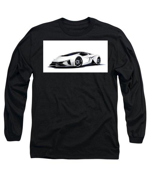 Long Sleeve T-Shirt featuring the digital art Lamborghini by Brian Gibbs