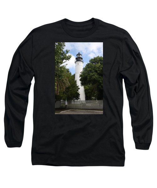 Long Sleeve T-Shirt featuring the photograph Lighthouse - Key West by Christiane Schulze Art And Photography