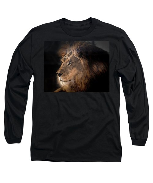 Long Sleeve T-Shirt featuring the photograph Lion King Of The Jungle by James Sage