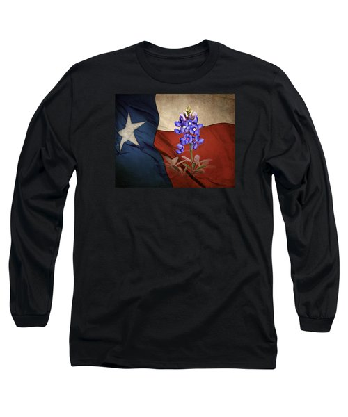 Lone Star Bluebonnet Long Sleeve T-Shirt