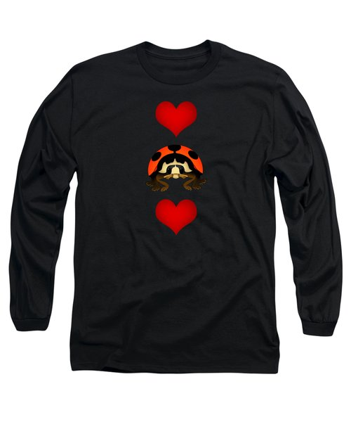 Love Bug Vertical Long Sleeve T-Shirt by Sarah Greenwell