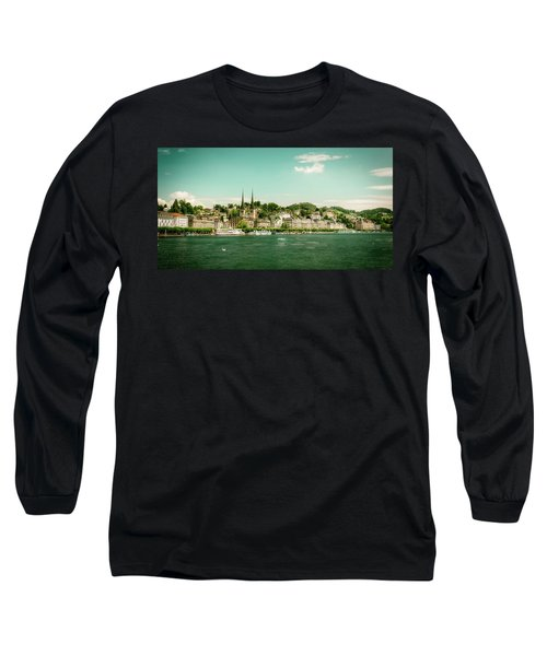 Long Sleeve T-Shirt featuring the photograph Lucerne Panorama by Wolfgang Vogt