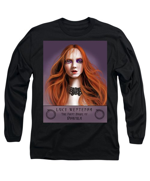 Long Sleeve T-Shirt featuring the painting Lucy Westenra by James Christopher Hill