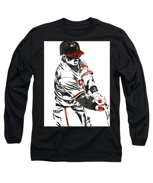 Manny Machado Baltimore Orioles Pixel Art Long Sleeve T-Shirt
