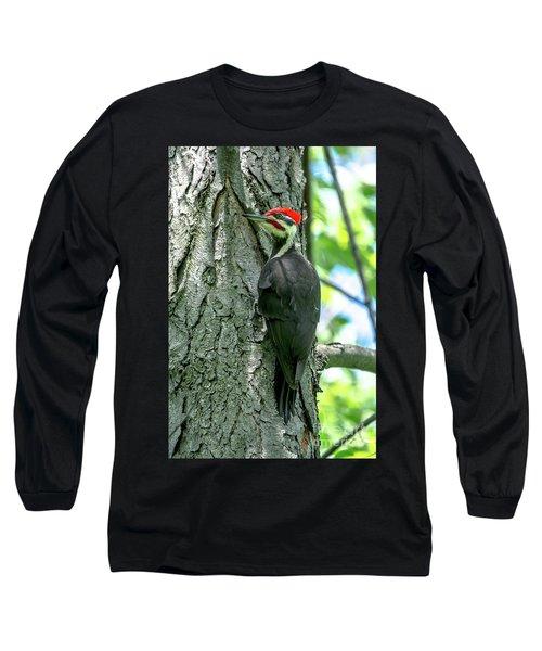 Mr. Pileated Woodpecker Long Sleeve T-Shirt