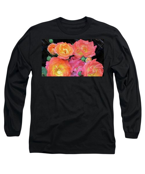 Multi-color Roses Long Sleeve T-Shirt