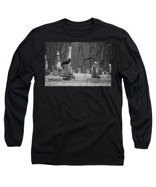 Long Sleeve T-Shirt featuring the photograph Murder Of Crows by Rowana Ray