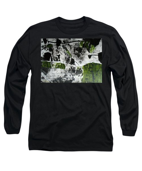 Long Sleeve T-Shirt featuring the mixed media Mysterion II by Mary Sullivan