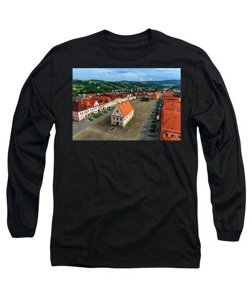 Old Town Square In Bardejov, Slovakia Long Sleeve T-Shirt by Elenarts - Elena Duvernay photo