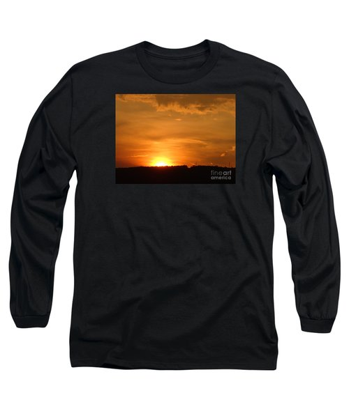 Orange Sunset  II Long Sleeve T-Shirt by Christina Verdgeline