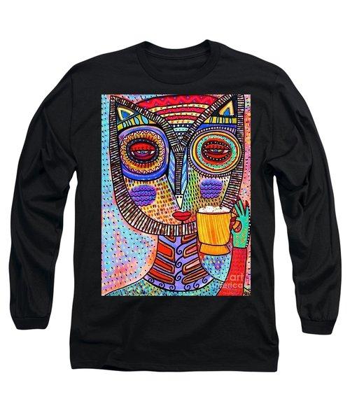 Owl Goddess Drinking Hot Chocolate Long Sleeve T-Shirt