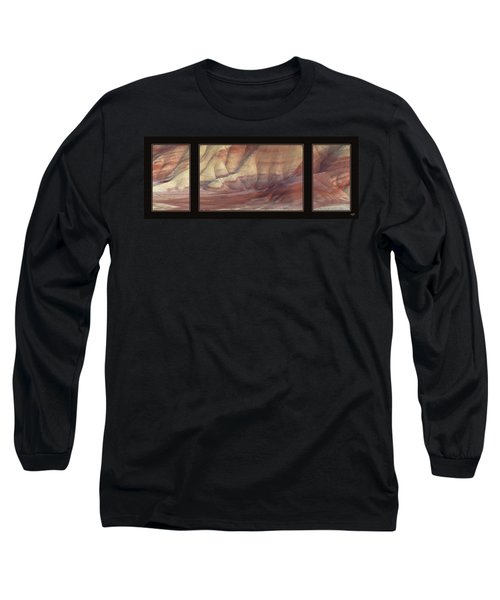 Painted Hills Triptych Long Sleeve T-Shirt by Leland D Howard