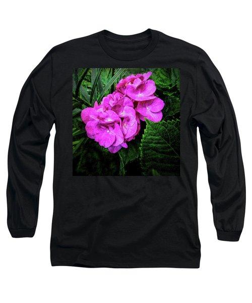 Painted Hydrangea Long Sleeve T-Shirt