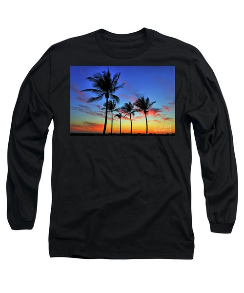 Long Sleeve T-Shirt featuring the photograph Palm Tree Skies by Scott Mahon