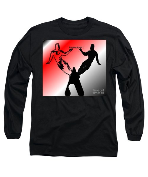 Perpendicular Long Sleeve T-Shirt by Belinda Threeths