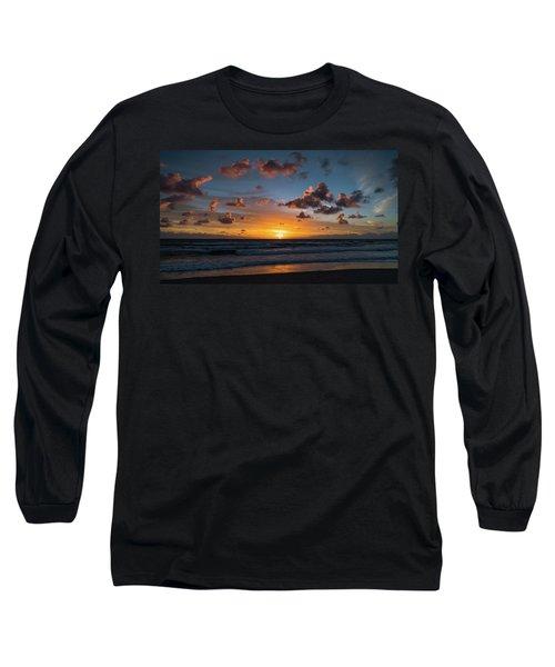 Pink Cloud Sunrise Delray Beach Florida Long Sleeve T-Shirt