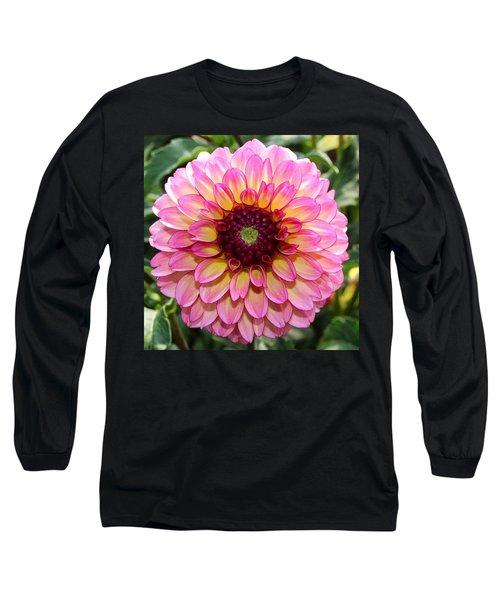 Pink Dahlia Long Sleeve T-Shirt