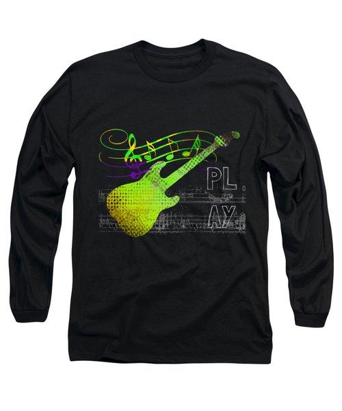 Long Sleeve T-Shirt featuring the digital art Play 1 by Guitar Wacky