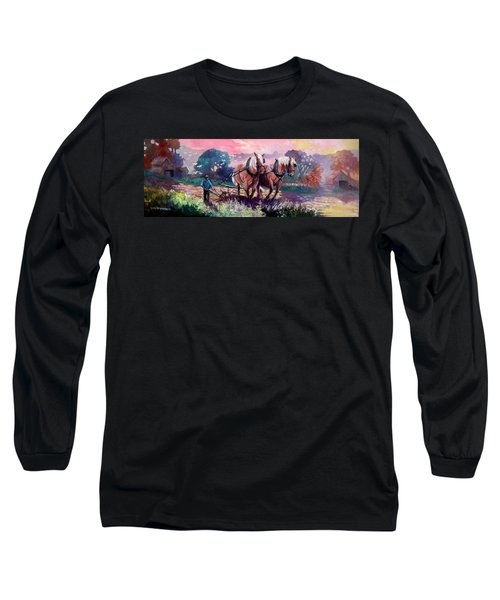 Ploughing  Long Sleeve T-Shirt