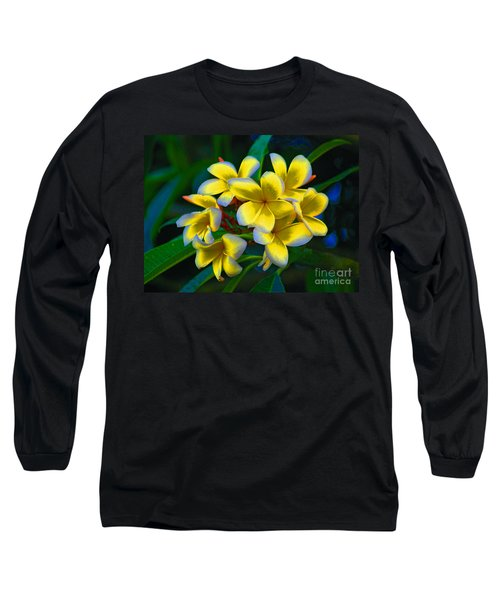 Long Sleeve T-Shirt featuring the photograph 1- Plumeria Perfection by Joseph Keane