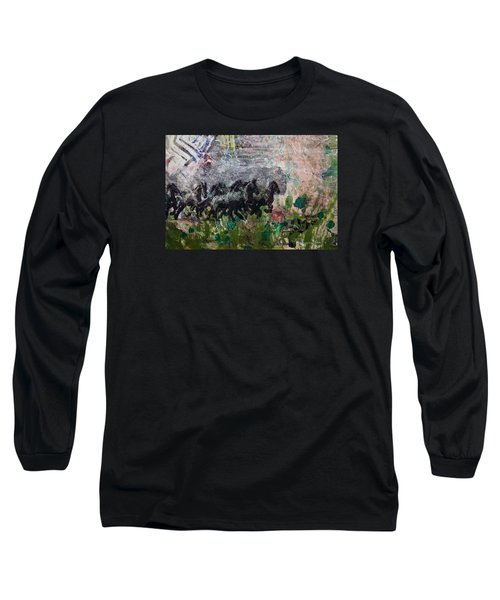 Ponies Long Sleeve T-Shirt by Ron Richard Baviello