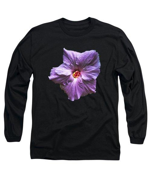 Purple Hibiscus Long Sleeve T-Shirt