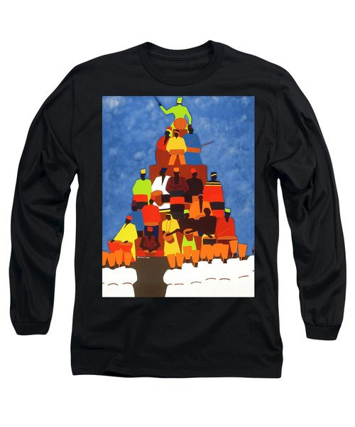 Pyramid Of African Drummers Long Sleeve T-Shirt