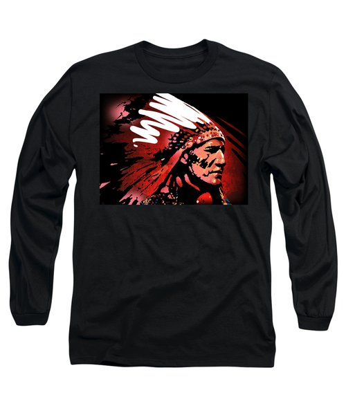 Red Pipe Long Sleeve T-Shirt