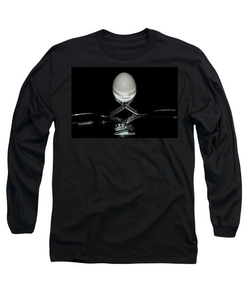Long Sleeve T-Shirt featuring the photograph Reflection Through Tines by Cathy Harper