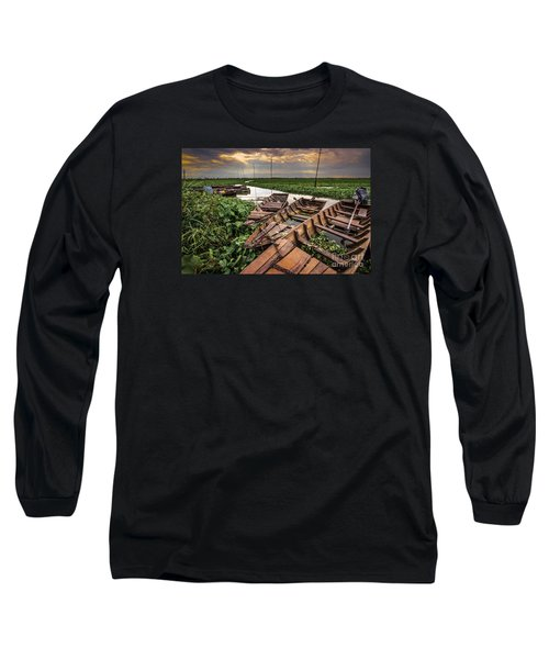 Long Sleeve T-Shirt featuring the photograph Rest Of Boat by Arik S Mintorogo