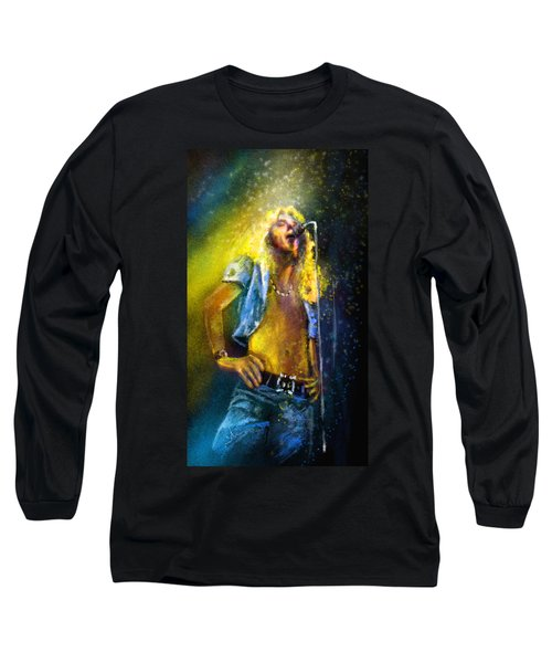 Robert Plant 01 Long Sleeve T-Shirt by Miki De Goodaboom