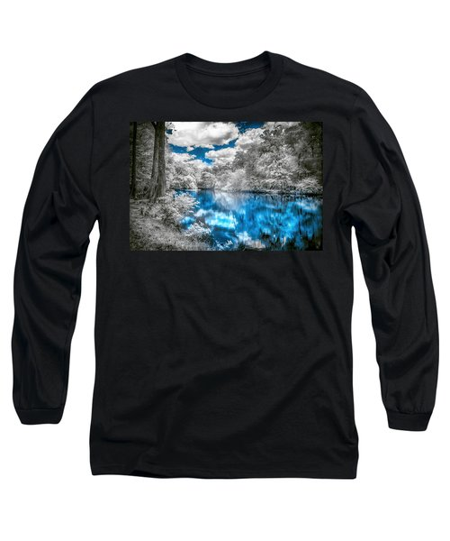 Long Sleeve T-Shirt featuring the photograph Santa Fe River Reflections by Louis Ferreira