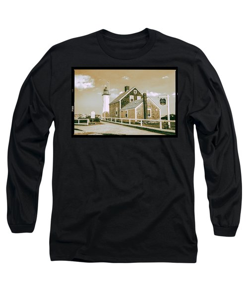 Scituate Lighthouse In Scituate, Ma Long Sleeve T-Shirt by Peter Ciro