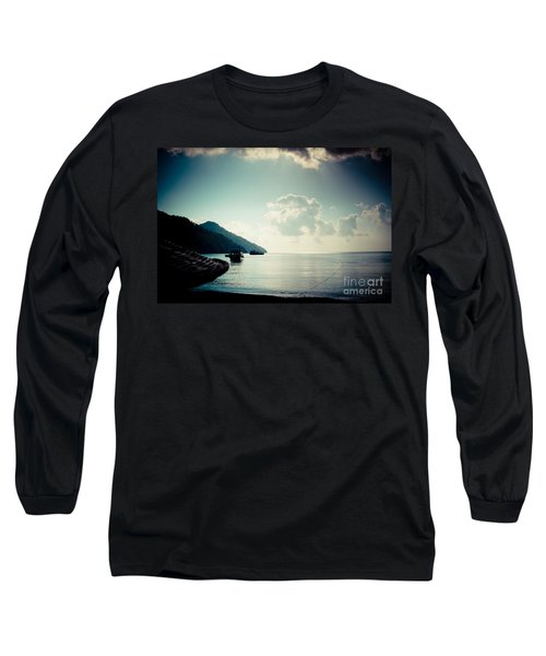 Seascape Sunrise Sea And Clouds  Long Sleeve T-Shirt