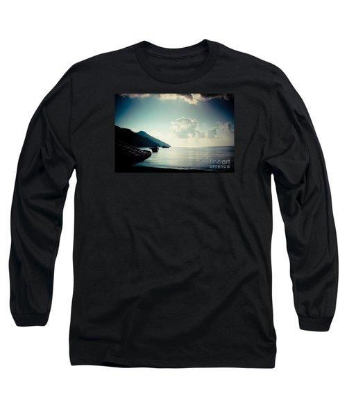 Seascape Sunrise Sea And Clouds  Long Sleeve T-Shirt