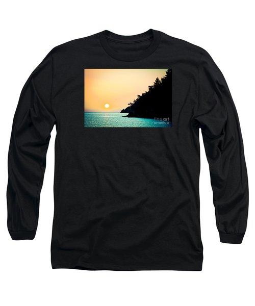 Seascape Sunrise Sea And Sun Long Sleeve T-Shirt