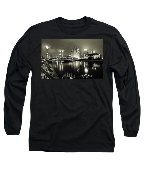 Long Sleeve T-Shirt featuring the photograph Shanghai Nights by Chris Cousins