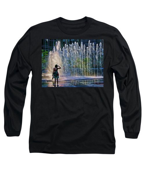 Long Sleeve T-Shirt featuring the photograph Should I? by Rhonda McDougall