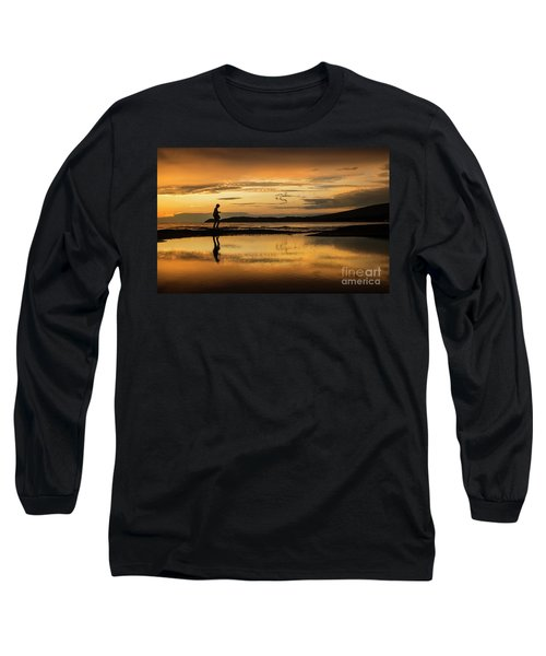 Silhouette In Sunset Long Sleeve T-Shirt