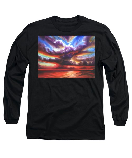 Long Sleeve T-Shirt featuring the painting Skyburst by James Christopher Hill