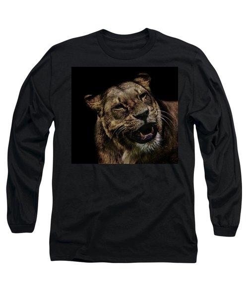 Orangutan Smile Long Sleeve T-Shirt by Martin Newman