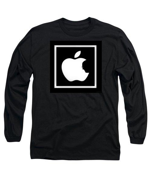 Steve Jobs Apple Long Sleeve T-Shirt by Rob Hans