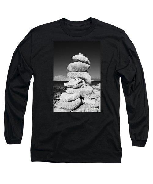 Stone Tower On Halki Island Long Sleeve T-Shirt