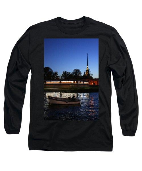 St.petersburg At Night Long Sleeve T-Shirt