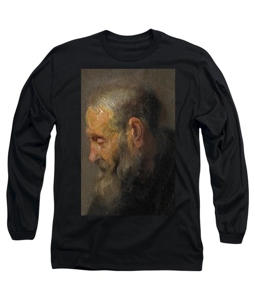 Study Of An Old Man In Profile Long Sleeve T-Shirt