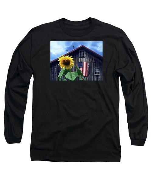 Sunflower By Barn Long Sleeve T-Shirt