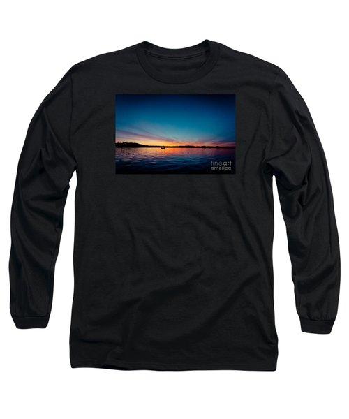 Sunrise Above Lake Water Summer Time Latvia Ezera Skanas Long Sleeve T-Shirt